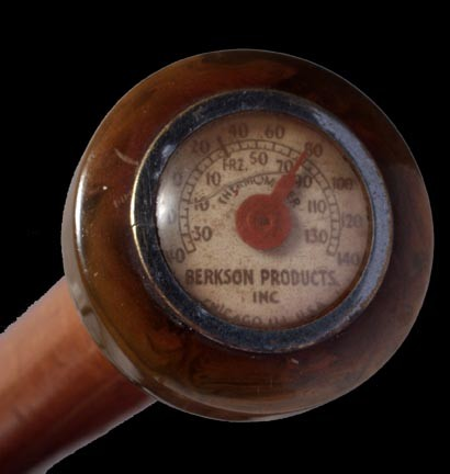 Thermometer gadget cane ca. 1930
